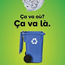 Le papier d'aluminium, même lorsqu'il est légèrement souillé, est recyclable. L'aluminium est en fait recyclable à l'infini! Toutefois, pensez à jeter la nourriture qu'il contient avant de le mettre au bac bleu.