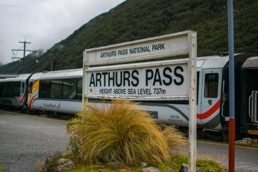 Arrivée à notre premier arrêt: Arthur's Pass