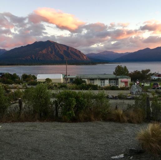 La vue de notre auberge sur le Lake Brunner